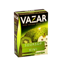 Vazar Soursop & Kiwi Green Tea, Loose Leaf 100 gm