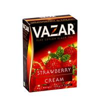 Vazar Strawberry & Cream Black Tea, Loose Leaf 100 gm