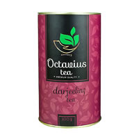 Octavius Whole Leaf Darjeeling Black Tea - Premium Gift Caddy, 100 gm