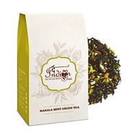 The Indian Chai - Exotic Masala Mint Green Tea, Loose Whole Leaf 100 gm