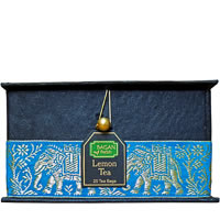 Bagan Lemon Tea Gift Box - Black Paper, Terquoise Elephant Zari Lace (25 ...