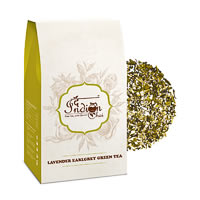 The Indian Chai - Lavender Earl Grey Green Tea, Loose Whole Leaf 100 gm