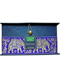 Bagan Earl Grey Tea Gift Box - Black Paper, Purple Elephant Zari Lace (25 ...