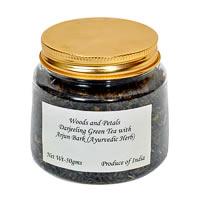 Woods and Petals Darjeeling Green Tea with Arjun Bark, Loose Leaf 50 gm