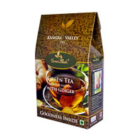 GreenBuds Kangra Green Tea with Ginger, Loose Leaf 150 gm