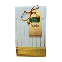 Bagan Premium Darjeeling Tea Gift Pack - Cream Paper with Zari Lace, 100 gm