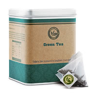 Dancing Leaf Green Tea Caddy (25 Pyramid tea bags)