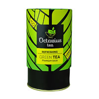 Octavius Whole Leaf Lemon Green Tea - Vibrant Gift Caddy, 100 gm