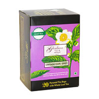 Glenburn Vintage Earl Grey Tea, Whole Leaf (20 Pyramid tea bag)
