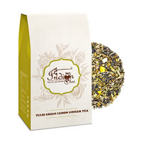 The Indian Chai - Tulsi Lemon Ginger Green Tea (Stress Relieving), Loose ...