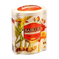 Basilur Fruit Infusions Red Hot Ginger Tea Loose Leaf 100 gm Caddy