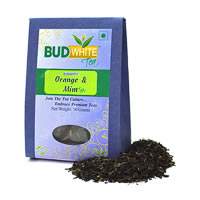 Budwhite Orange and Mint Organic Loose Full-Leaf Tea 50 gm