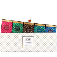 Newby Gourmet Miniatures Black and Green Teas - Gift Box (5 mini-caddies)