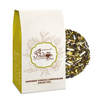 The Indian Chai - Soothing Ginger Lemongrass Green Tea, Loose Whole Leaf ...