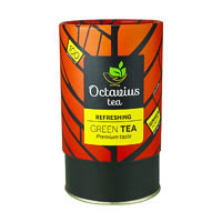 Octavius Whole Leaf Ginger Green Tea - Vibrant Gift Caddy, 100 gm