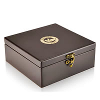 Dancing Leaf 4-Partition Wooden Box - Assorted Tea Gift Chest (24 Pyramid ...