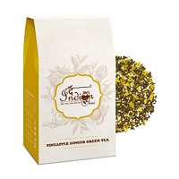 The Indian Chai - Pineapple Ginger Green Tea, Loose Whole Leaf 100 gm