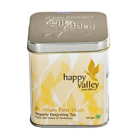 Happy Valley Darjeeling Organic Premium First Flush Black Tea, Whole Leaf ...