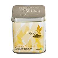 Happy Valley Darjeeling Organic Premium First Flush Black Tea, Whole Leaf ...
