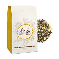 The Indian Chai - Turmeric Ginger Herbal Green Tea, Loose Whole Leaf 100 gm