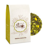 The Indian Chai - Moringa Detox Green Tea (with Amla & Tulsi), Loose Whole ...