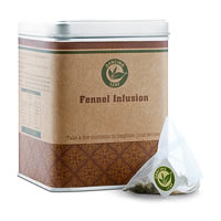 Dancing Leaf Fennel Infusion Green Tea Caddy (25 Pyramid tea bags)