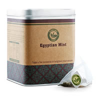 Dancing Leaf Egyptian Mint Black Tea Caddy (25 Pyramid tea bags)