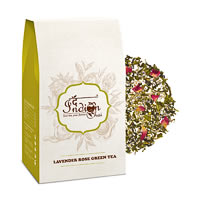 The Indian Chai - Lavender Rose Green Tea, Loose Whole Leaf 100 gm
