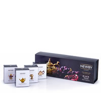 Newby Black Teas Taster Selection - Loose Leaf Teas Gift Box (4 mini cartons)