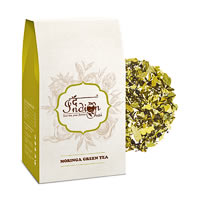 The Indian Chai - Moringa Green Tea, Loose Whole Leaf 100 gm