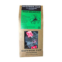 Saffron Cup Irish Breakfast Black Tea (20 Pyramid tea bags)
