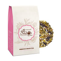 The Indian Chai - Hibiscus Floral Green Tea, Loose Whole Leaf 100 gm