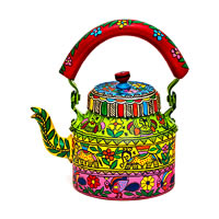Kaushalam Hand-Painted Tea Kettle, Large - Celebration