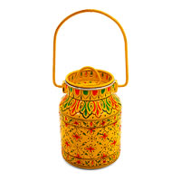 Kaushalam Hand-Painted Cookie Jar - Yellow