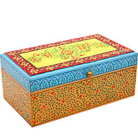 Kaushalam Hand-Painted Tea Box - Multicolour