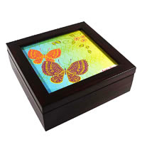 Twirly Tales Butterfly Series Square Tea Bag Organiser