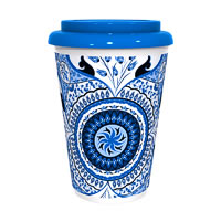 Kolorobia Turkish Blue Cafe Mug
