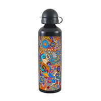 Kolorobia Colorful Peacock Black Travel Sipper