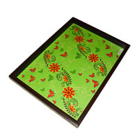 Twirly Tales Floral Series Rectangular Tray