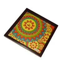 Twirly Tales Festive Diya Series Square Tray