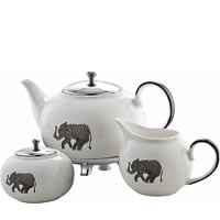 Arttdinox Heritage White Ceramic Tea Set