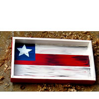 ScrapShala Hand-Painted Charismas Star Vintage Wooden Tray