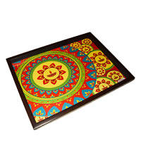 Twirly Tales Festive Diya Series Rectangular Tray