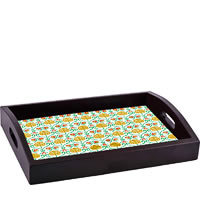 ThinNFat Cute Floral Printed Tray