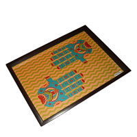 Twirly Tales Ethnic Hands Series Rectangular Tray