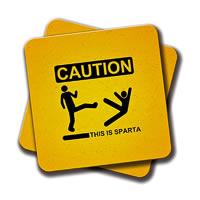 Amey Caution Coasters - set of 2
