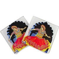 Kolorobia Gujrati Garba Glass Coasters - set of 4