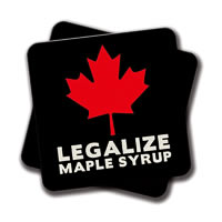 Amey Legalize Maple Syrup Coasters - set of 2