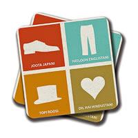 Amey Joota Hai Jaapani Coasters - set of 2