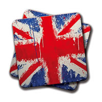 Amey British Flag Coasters - set of 2